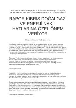 Bağımsız Türkiye Komisyonunun Avrupada