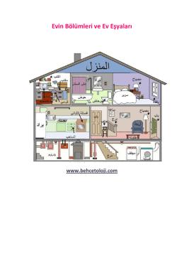 Evin Bölümleri ve Ev Eşyaları