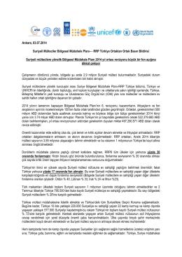 RRP Türkiye Ortakları Ortak Basın Bildirisi