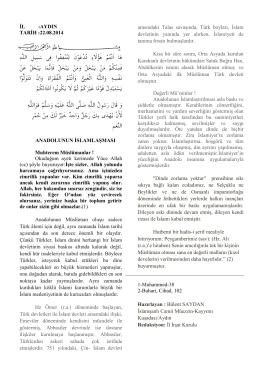 anadolunun islamlaşması