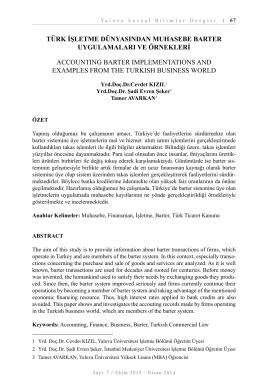 Bu PDF dosyasını indir - Yalova Üniversitesi Sosyal Bilimler Dergisi