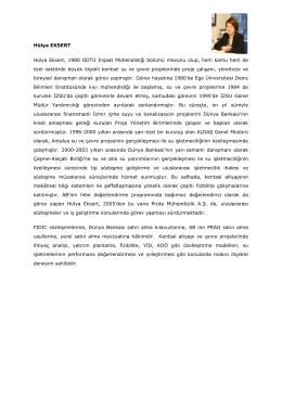 Hülya EKSERT Hülya Eksert, 1980 ODTÜ İnşaat Mühendisliği