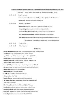 11.00 – 11.30 Açılış Konuşmaları Zafer Kıraç Ceza
