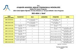 Adalet 1. Sınıf - Ataşehir Adıgüzel Meslek Yüksekokulu
