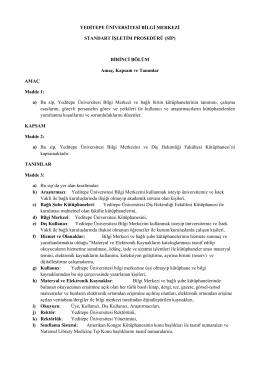 Link1 () - Yeditepe Üniversitesi