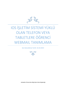 IOS işletim sistemi yüklü olan cihazlarda kullanma dokümanı için