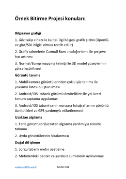 bitirme ödevi konuları listesi