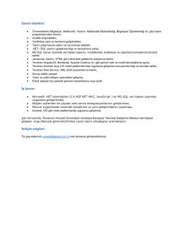 Genel nitelikler - Kocaeli Üniversitesi Bilgisayar Mühendisliği