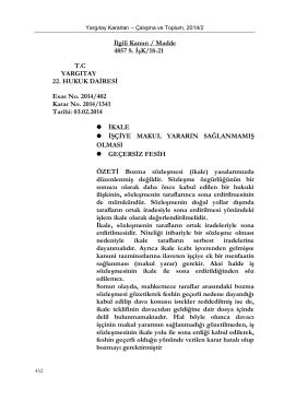 İlgili Kanun / Madde 4857 S. İşK/18