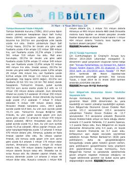 31 Mart – 6 Nisan 2014 Sayı: 224