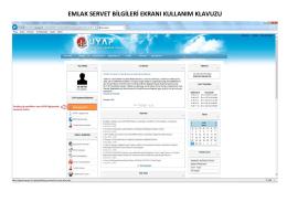 emlak servet bilgileri ekranı kullanım klavuzu