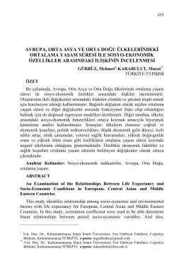 GÜRBÜZ, Mehmet-KARABULUT, Murat-AVRUPA, ORTA