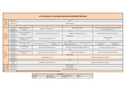 16-19 nisan 2014 ıı. kalkınma ajansları konferansı programı