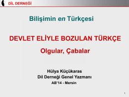 Slayt 1 - Türkiye Bilişim Derneği