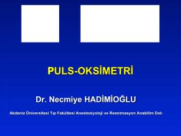 PULS-OKSİMETRİ - uludaganestezi.org