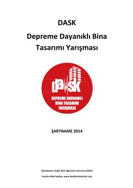 DASK Depreme Dayanıklı Bina Tasarımı Yarışması ŞARTNAME 2014