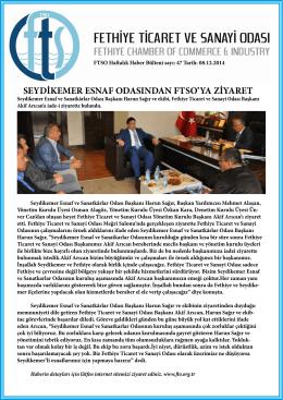 Sayı- 47 - Fethiye Ticaret ve Sanayi Odası