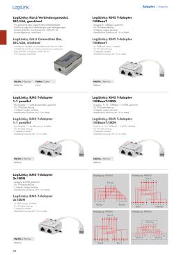 Adapter / Adapter LogiLink® Kat.6 Verbindungsmodul, IDC/LSA