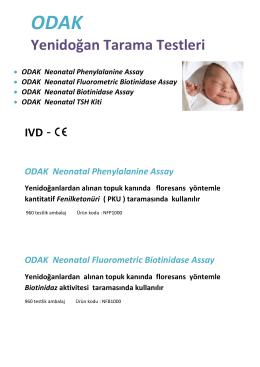ODAK Neonatal katalog
