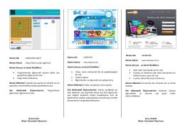 Çalışma Notu ve Örnek Çalışma için TIKLA!