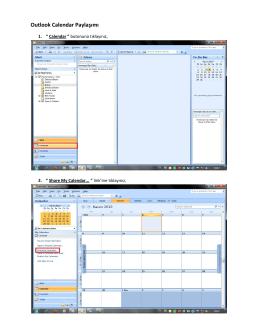 Outlook Calendar Paylaşımı