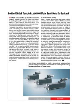 Beckhoff Sürücü Teknolojisi: AM8000 Motor Serisi Daha Da Genişledi
