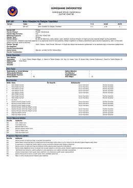 Büro Yönetimi ve İletişim - Gümüşhane Meslek Yüksekokulu