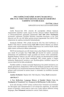 1902 tarihli eski kiril harfli başkurtça bir incil tercümesi