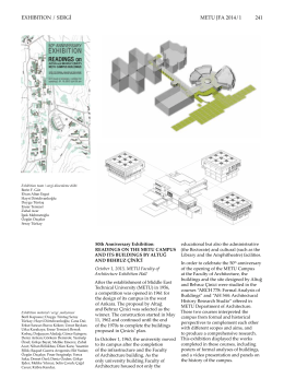 EXHIBITION / SERGİ METU JFA 2014/1 241