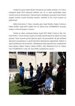 Uludağ Üniversitesi İnegöl Meslek Yüksekokulu spor kulübü