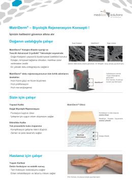 MatriDerm® – Biyolojik Rejenerasyon Konsepti