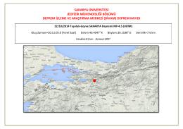 merkezi (divam) deprem kayıdı - Jeofizik Mühendisliği