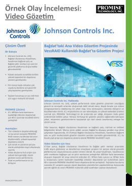 Video Gözetim Johnson Controls Inc.