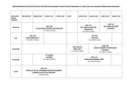 Odyoloji ve Dil-Konuşma Anabilim dalları 1. Sınıf ders programı