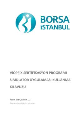 VİOPFIX Sertifikasyon Programı Simülatör