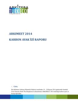 ARKIMEET 2014 KARBON AYAK İZİ RAPORU