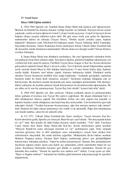27. Yusuf Sezer Düzce Millî Eğitim müdürü 1. 1963