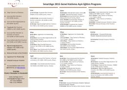 SmartAge 2015 Genel Katılıma Açık Eğitim Programı