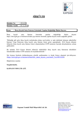 2014-83 Numaralı Sirküler - KAPSAM Yeminli Mali Müşavirlik