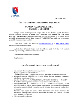 OLAGAN_MALI_GENEL_KURUL _CAGRISI_ve_GUNDEMI