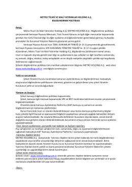 Bilgilendirme Politikası - Kamuyu Aydınlatma Platformu