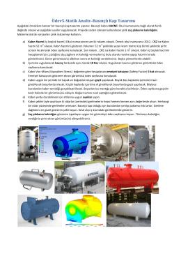 Ödev5-Statik Analiz–Basınçlı Kap Tasarımı