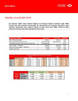24/11/2014 teknik analiz bülteni
