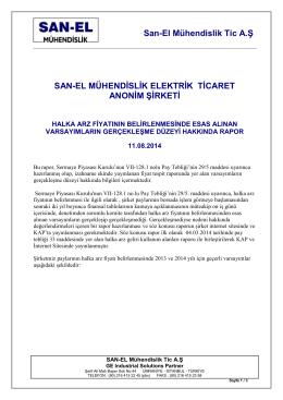 12.08.2014 Fiyat Tespit Rapor Projeksiyonu Hakkinda Rapor