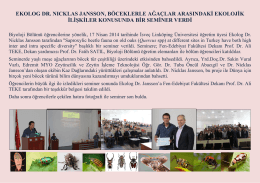 ekolog dr. nıcklas jansson, böceklerle ağaçlar