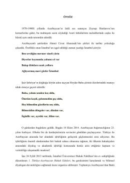 Türkiye-Azerbaycan Hukuk Günleri Önsözü