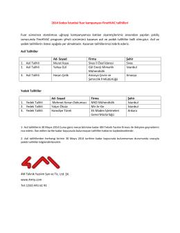 2014 Sodex İstanbul fuar kampanyası FineHVAC talihlileri Fuar