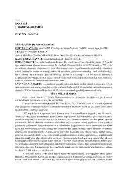 tc kocaeli 2. idare mahkemesi esas no : 2014/734 - Eğitim-Sen