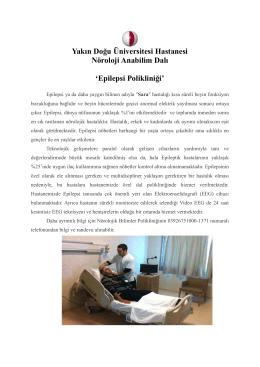 Epilepsi Polikliniği - Yakın Doğu Üniversitesi