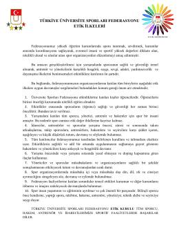 Türkiye Üniversite Sporları Federasyonu Etik İlkeleri